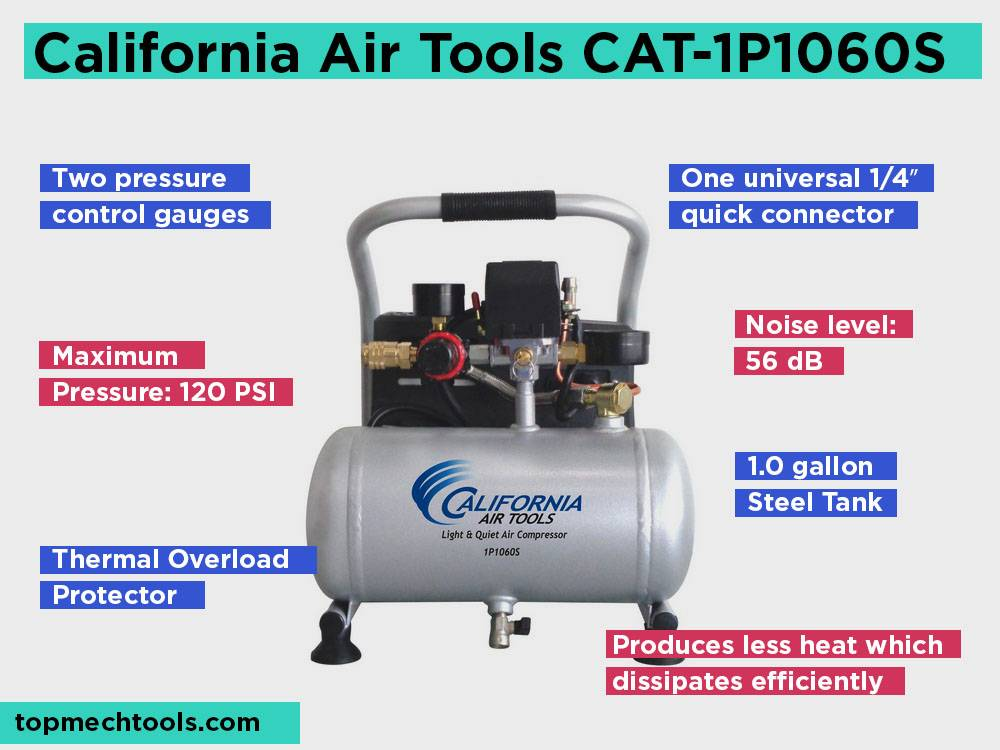 California Air Tools CAT-1P1060S Review, Pros and Cons. Check our Best Pick for a Working in a Quiet Environment 2018