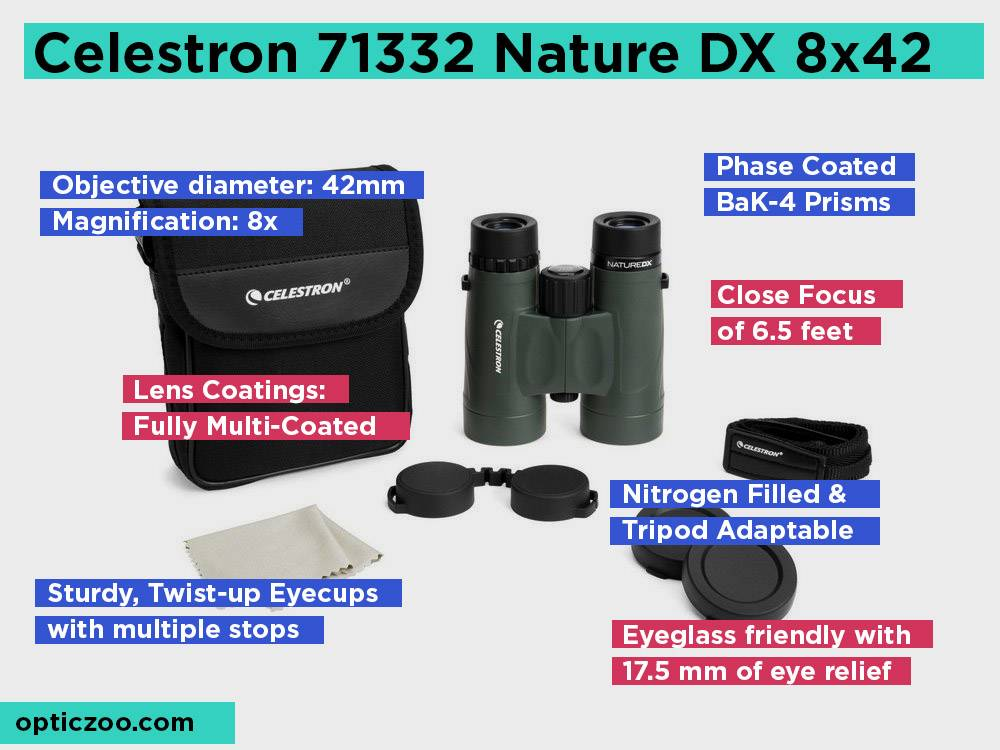 Celestron 71332 Nature DX 8x42 Review, Pros and Cons. Check our Top Pick 2018