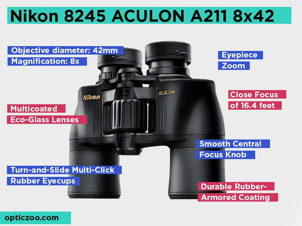 Nikon 8245 ACULON A211 8x42 Review, Pros and Cons. Check our Best Pick for User's Who Wear Glasses 2018