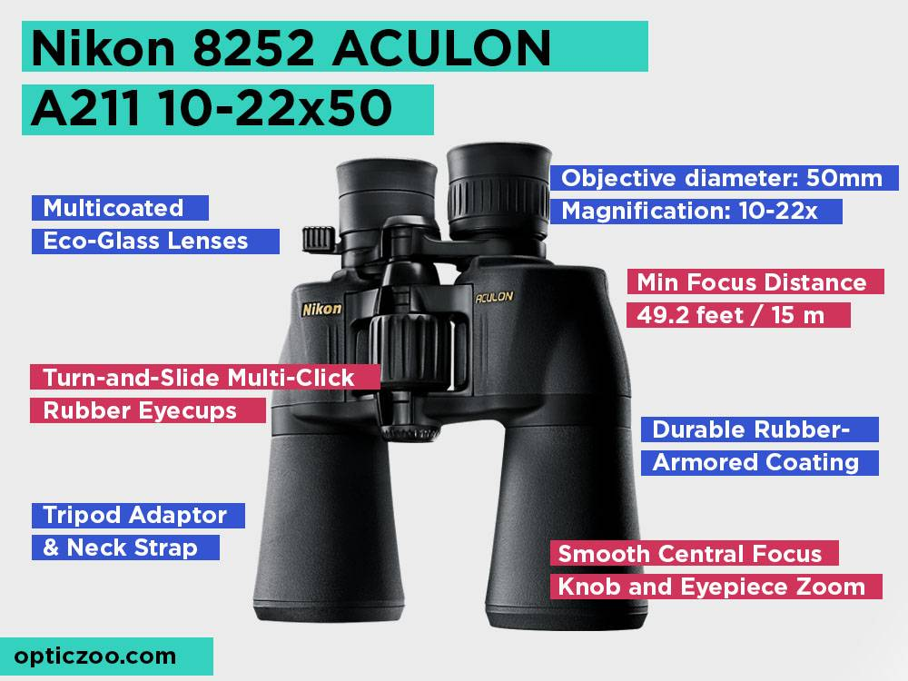 Nikon 8252 ACULON A211 10-22x50 Review, Pros and Cons. Check our Top Pick 2018