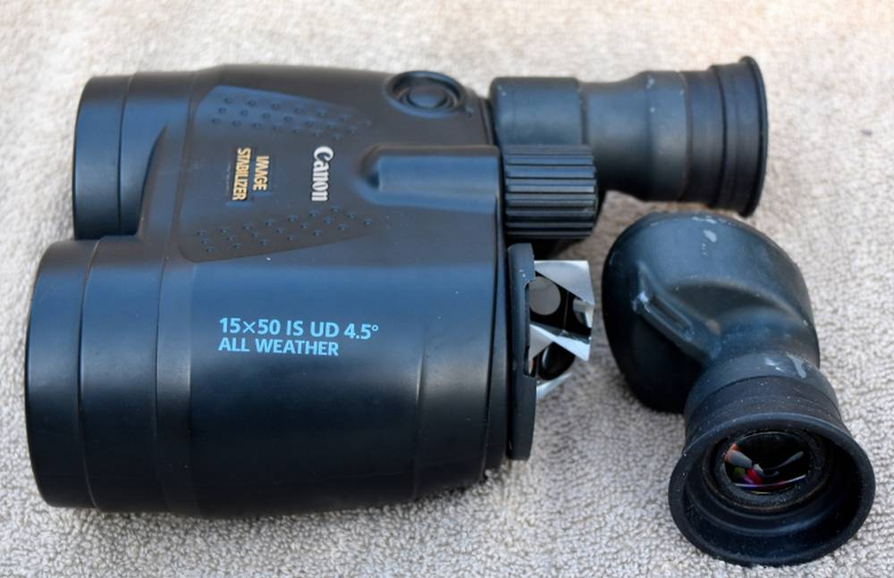 Canon 15x50 IS has a All-Weather construction