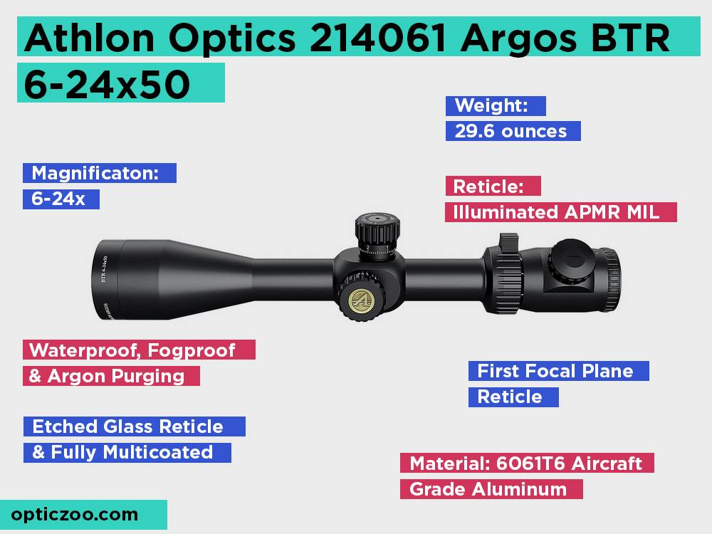 Athlon Optics 214061 Argos BTR 6-24x50 Review, Pros and Cons