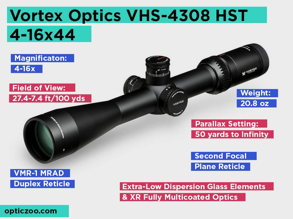 Vortex Optics VHS-4308 HST 4-16x44 Review, Pros and Cons