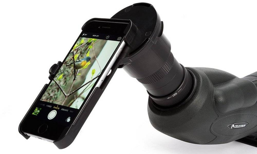 A magnification of 60x for the spotting scope for long-range shooting or long-distance viewing