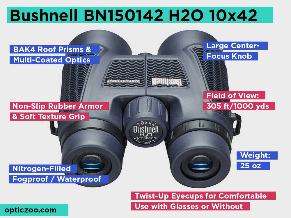 Bushnell BN150142 H2O 10x42 Review, Pros and Cons