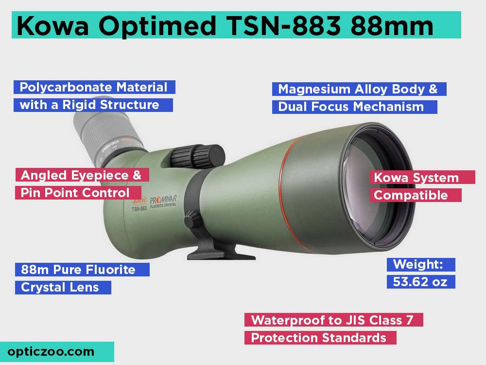 Kowa Optimed TSN-883 88mm Review, Pros and Cons