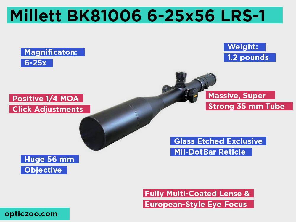 Millett BK81006 6-25x56 LRS-1 Review, Pros and Cons