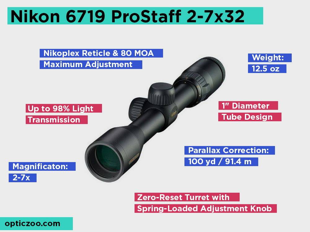 Nikon 6719 ProStaff 2-7x32 Review, Pros and Cons