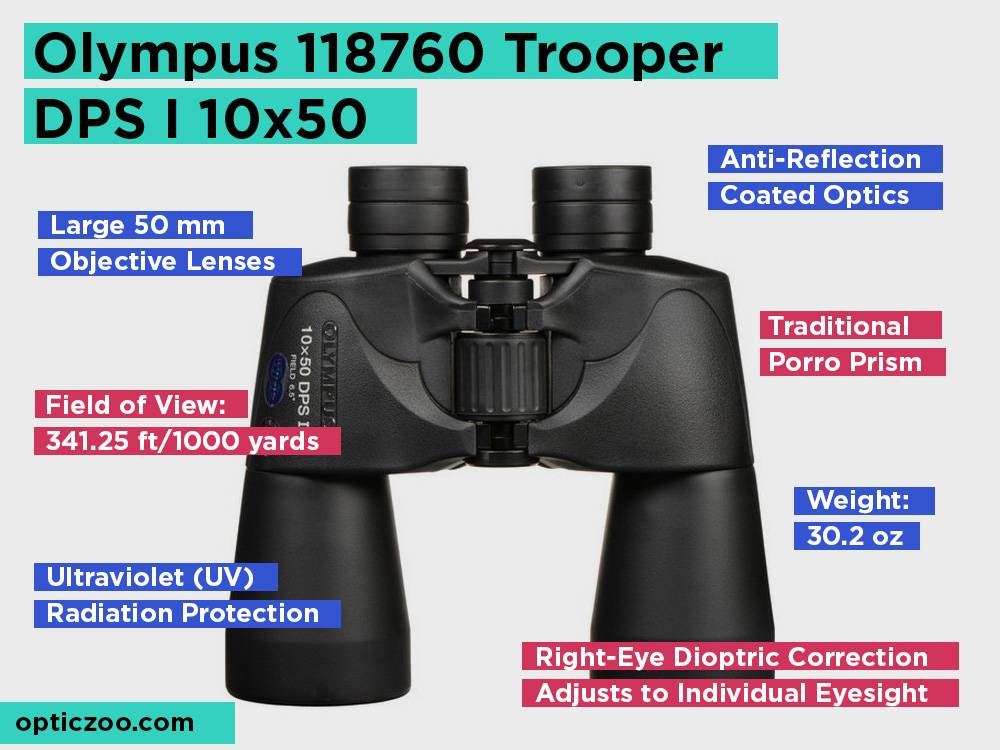 Olympus 118760 Trooper DPS I 10x50 Review, Pros and Cons