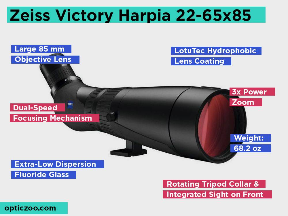 Zeiss Victory Harpia 22-65x85 Review, Pros and Cons