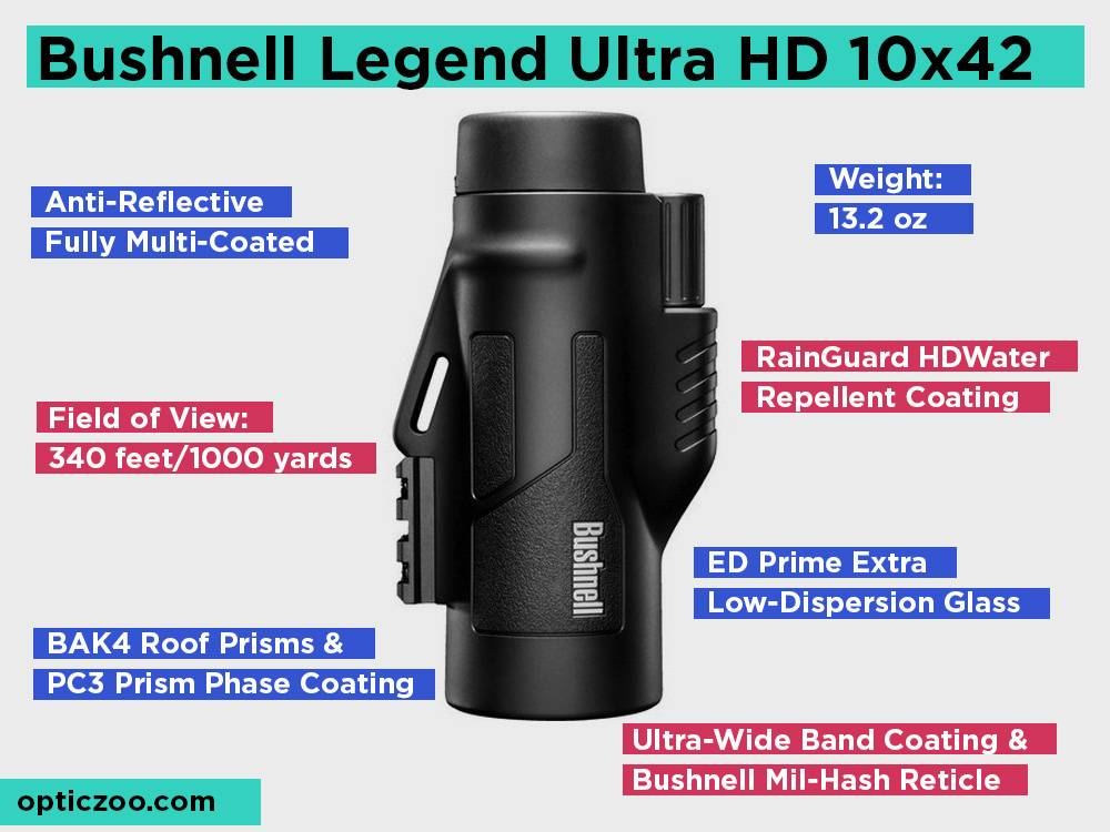 Bushnell Legend Ultra HD 10x42 Review, Pros and Cons