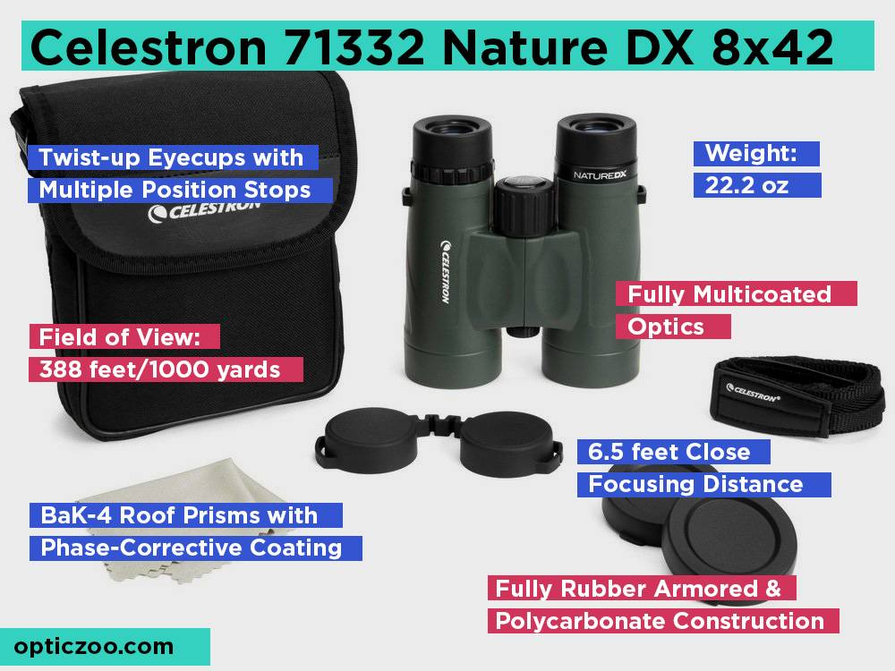 Celestron 71332 Nature DX 8x42 Review, Pros and Cons