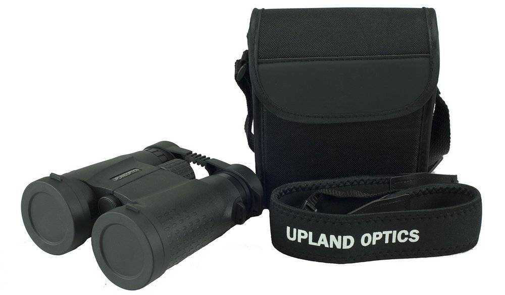 Upland Optics Perception HD 8x42mm binocular comes with a carrying case and a neck strap