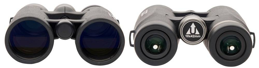 Upland Optics Venator 10x42 uses extra-low dispersion glass and multicoated lenses
