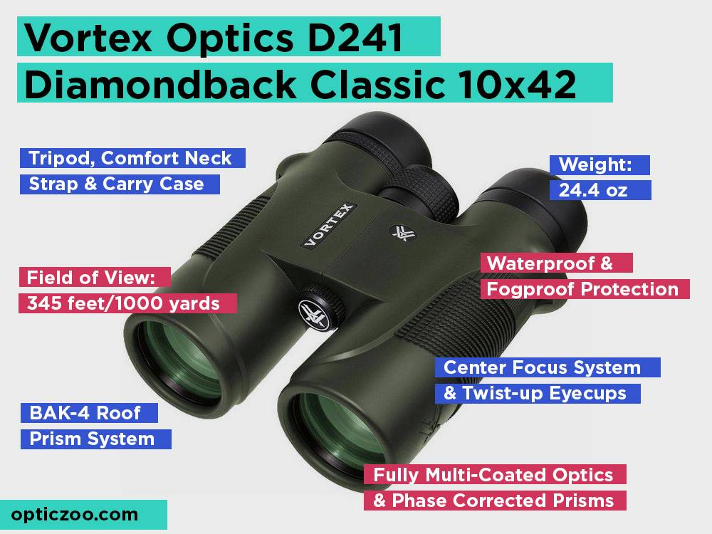 Vortex Optics D241 Diamondback Classic 10x42 Review, Pros and Cons
